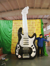 customized new design printed giant custom inflatable guitar for advertising