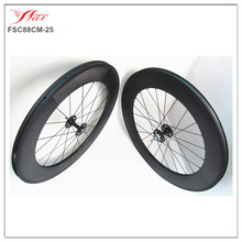 FSC88CM-25 wholesale chinese carbon wheelset single speed, fixed gear carbon clincher wheelset from Xiamen