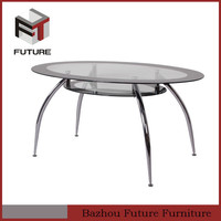 cheap stainless steel glass semicircular table