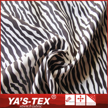 Newly fashion elastic polyester zebra printed fabric for dress