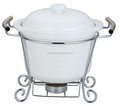 CD401C hot food warmer buffet server with ceramic dish