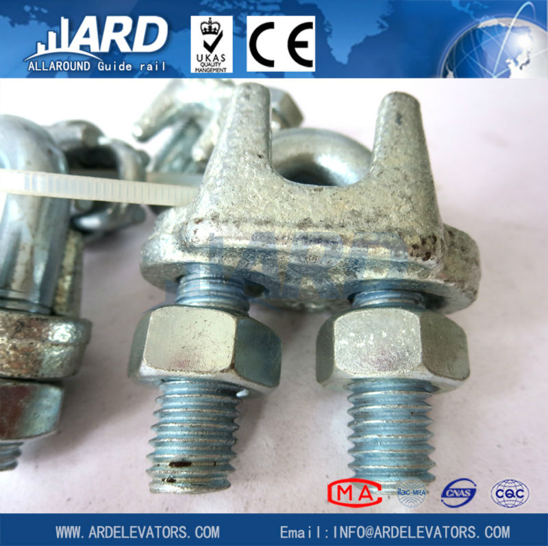 Stainless steel wire rope clips/elevator parts/wire rope wedge sockets