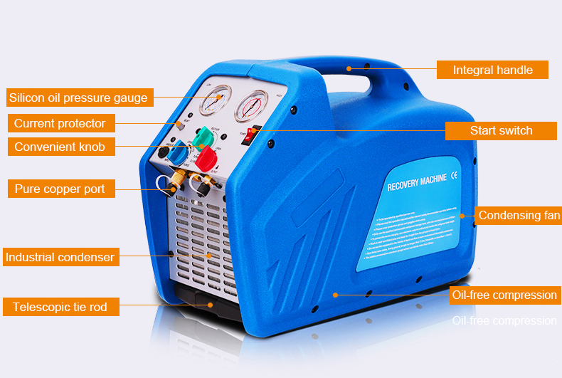 refrigerant recovery recycling machine with  CE certificate