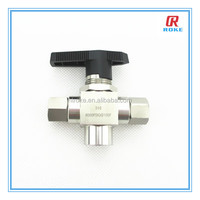 "1/4"" NPTF 6000psi ss316 3 way ball valve from RokeFluid"