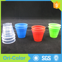 Factrory price disposable colorful 1 oz plastic pp cups