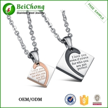 Stylish jewelry pretty elegant gift for lover, couple letter pendant with chain