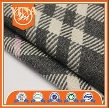 hot sell fashion design W/N plaid woolen fabric for women coats
