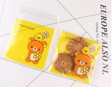 Clear printed plastic colorful opp bags ,self <strong>adhesive</strong> small Cookie bag