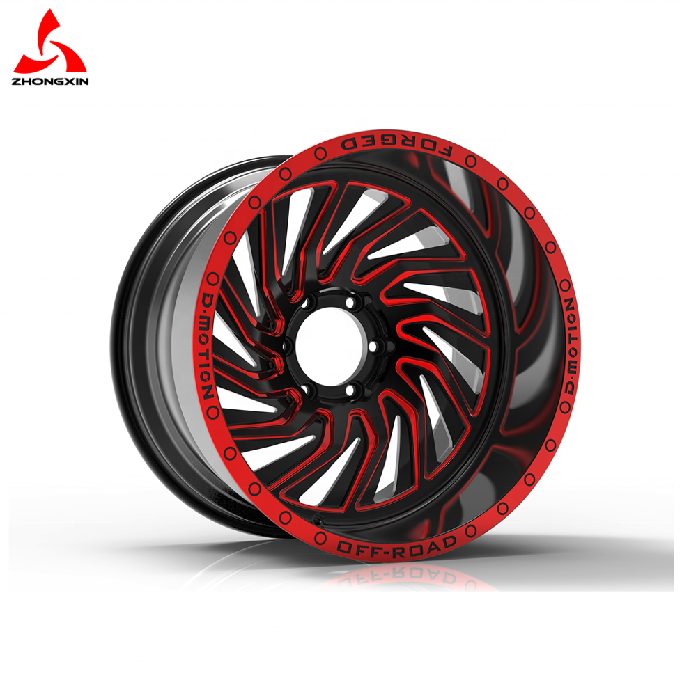 6061-T6 China Alloy <strong>Wheel</strong> Off Road Rims SUV Rims Customize 20' 22' 24' D-motion Forged Truck <strong>Wheel</strong>