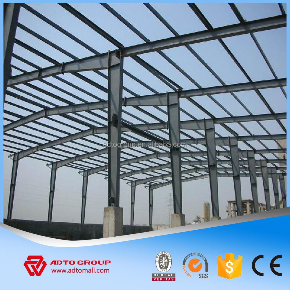 Factory Price Steel Structure Car Garage Framework Materials Structural H Beam Column Rigid Frame Metal Building Construction