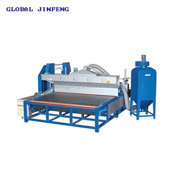 JFSD-2600 Horizontal toughed glass sandblasting machines deeply sandblasted for sale with CE