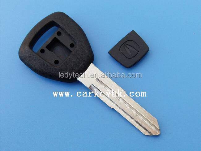 Replacement transponder key blank shell for Acura car key