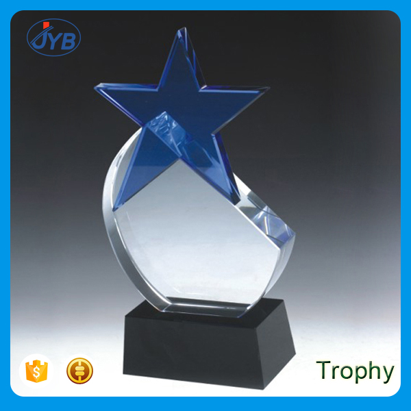 wonderful star crystal trophy award and shield for business gifts