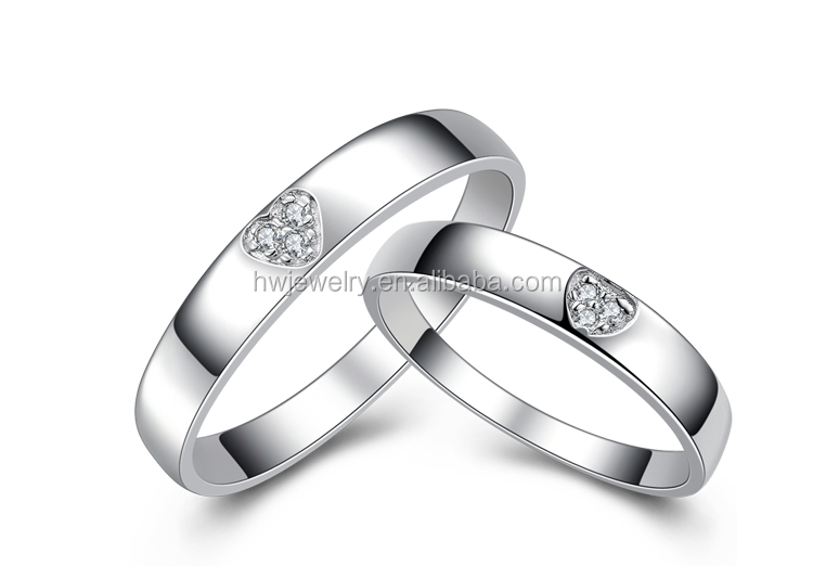 Gift handmade 925 silver couple ring