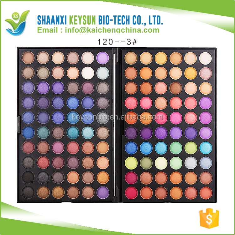 High quality 120 colors glitter eyeshadow private label powder palette <strong>cosmetics</strong> accept OEM and ODM