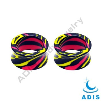 Cheap Acrylic White Ear Tunnels 18mm Body Jewelry Stock Wholesale