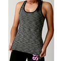 92%polyester & 8% spandex Tback ladies top with high stretchy