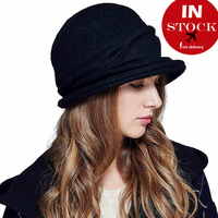 China supplier hot sale fashion lady elegant wool viscose blendced hat beret bucket cap good quality