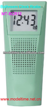 portable AM/FM radio with digital tuning Splash-resistant clock radio design (IP01 standard) bathroom radio
