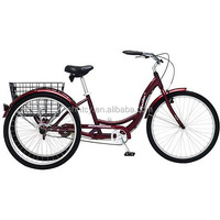 24'' Trike/Tricycle with Rear Basket for Cargo Sh-T004