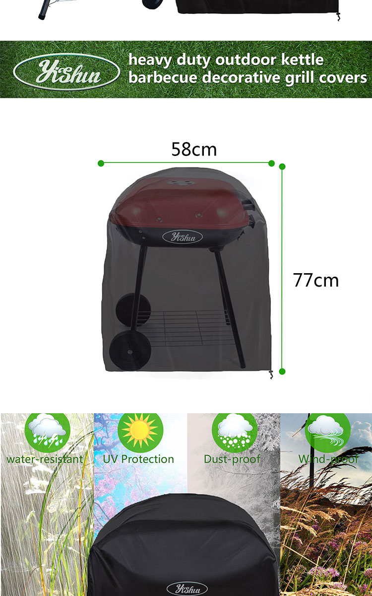 heavy duty outdoor kettle barbecue decorative grill covers