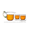 Pyrex clear glass tea cup and public cup