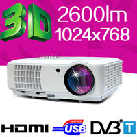 Digital Home cinema XGA 1024x768 3200lumens HD Video USB HDMI DVB-T 1080P LCD multimedia Video LED Projector 4