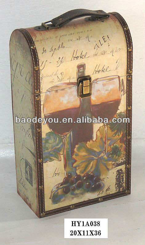 Italy Liquor Portugal Sweet Red Wine Box with 2 Bottles Box