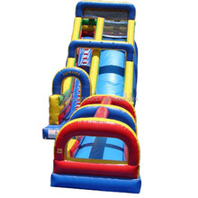 Commercial Inflatable Single Lane Slide with Slip and Slide