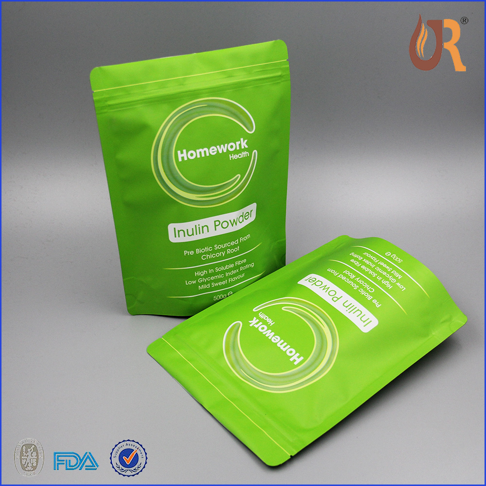 Custom logo printing resealable aluminium foil bags OPP CPP PET plastic tea bag/tea packaging bag
