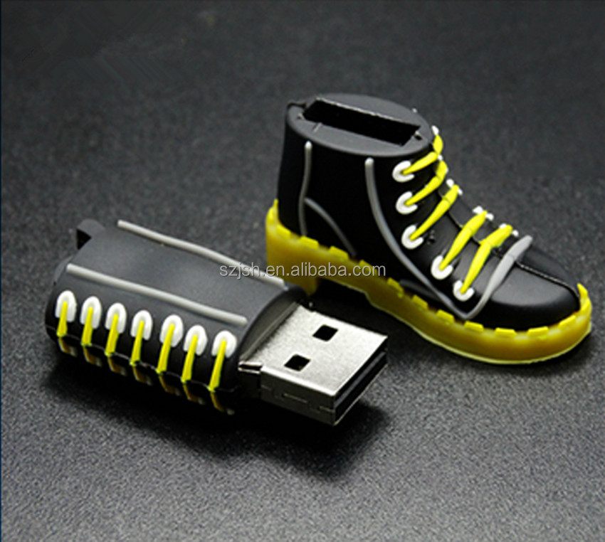 Wholesale Bulk Real Capacity high-speed PVC boots shape flash memory usb 32 gb for bulk gift