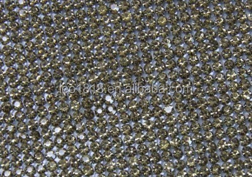 Hot melt adhesive glass crystal chaton mesh 24*40cm