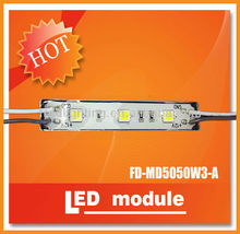 Hot sale!!! waterproof ip68, SMD5050 3 Mini LED module for acrylic illuminated signs,0.72w