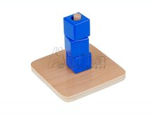 Montessori early learning Cubes on Vertical Dowel montessori materials