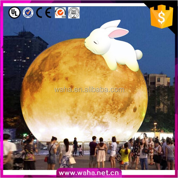2016 New Brand Nine Planets Event Decoration 15m Giant Inflatable Moon Model W10639