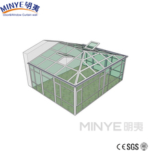 Aluminum Insulating double glass beautiful sun room design/ winter garden/glass room made in china
