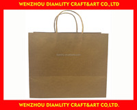 2016 new recycled brown paper bag/food packaging paper bags/kraft paper bag