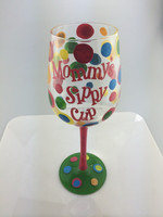 hot selling handpainted wine glass laboratory lab glassware