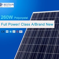 Powerwell Solar 260W Poly With CE/ISO/TUV/IEC/INMETRO Approval Standard Top Solar panel