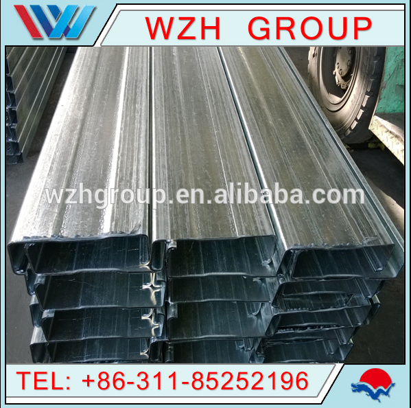 new product C channel galvanized steel c channel as building materials for the steel structure workshop