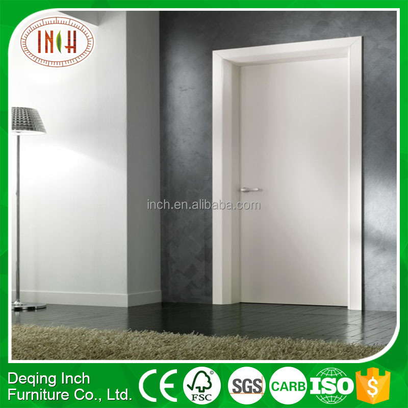 2016 New design PVC wood bedroom door price