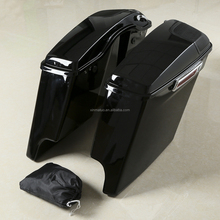 XF111529-01-A Extended Stretched Saddlebag <strong>w</strong>/ Speaker Grill For Harley Touring Road King 14-18