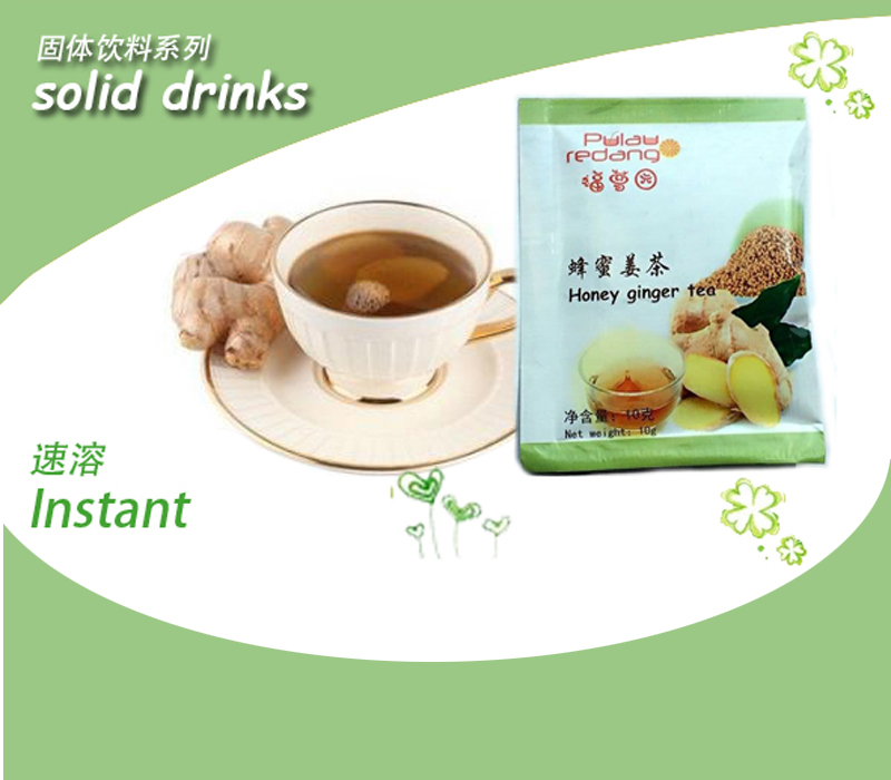 Instant honey ginger tea