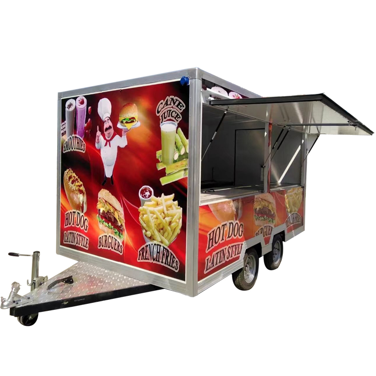 Low floor food truck vending food truck box food stall for sale