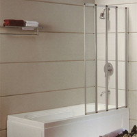 Acrylic Folding Tempered Glass Bath Shower Screen with frame