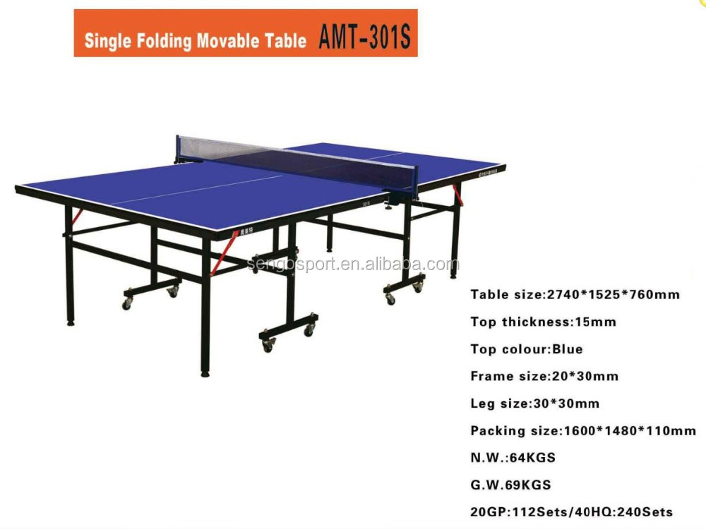 High Grade Movable Table Tennis Table International Folding Ping ...