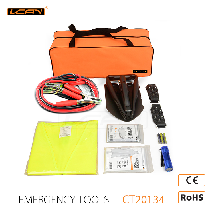 Auto Basic Winter Emergency Kit with A Snow Shovel Car Emergency Kit
