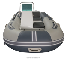 Samll Rigid Hull Fiberglass Inflatable Boat 3.3m - PVC Material Fishing Boat