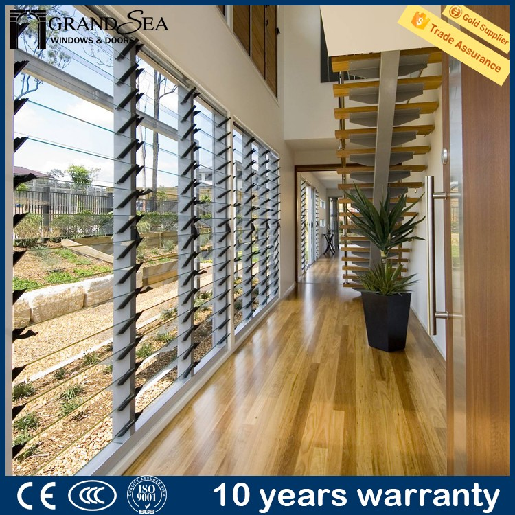 Australia standard AS2208/2047 themal break tempered glass louver windows in hot sale