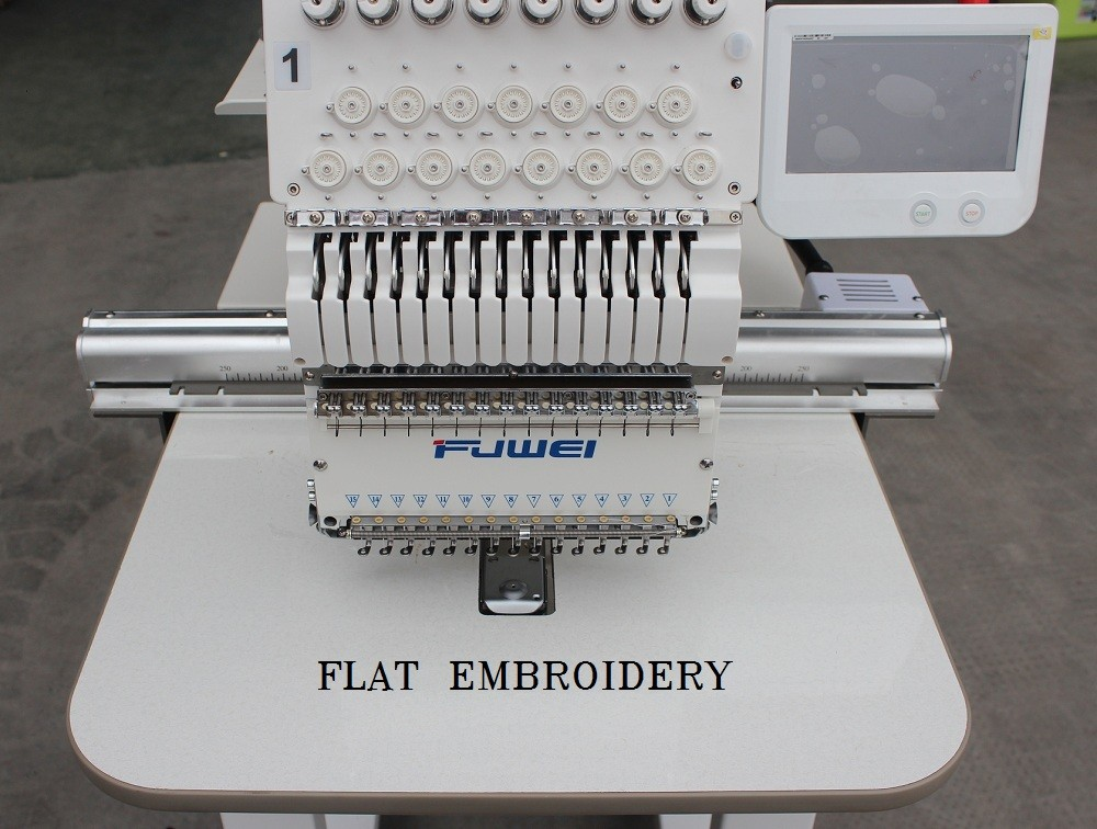 FUWEI Computerized Single Head Dahao Embroidery Machine Cap/ T-Shirt /Cross-Stitch Embroidery domestic computerized embroidery